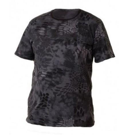 Камуфляжная футболка «Питон чёрный»