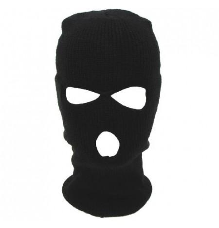 Подшлемник - маска вязаная, балаклава, черная